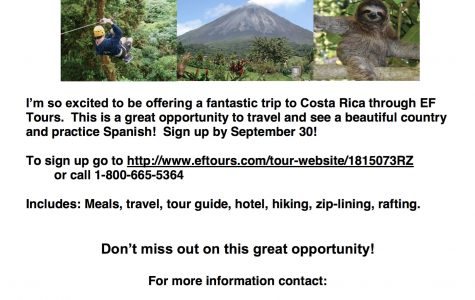 Wish you were here: Costa Rica trip opportunity for students