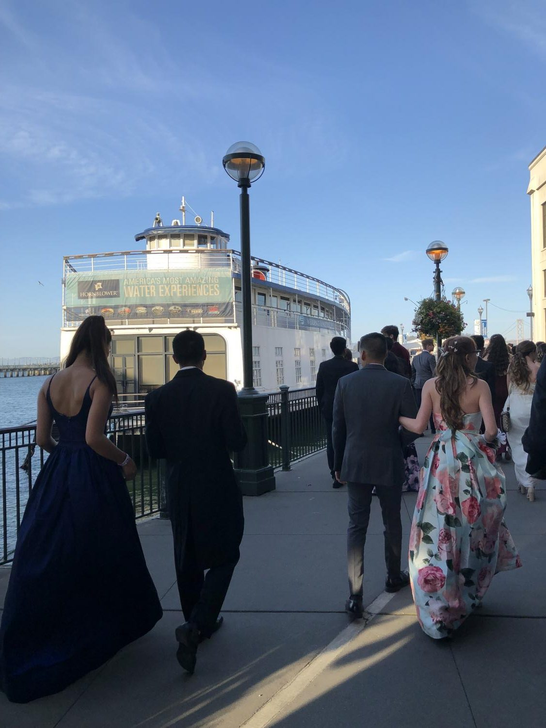 West High students boarding the San Francisco Hornblower