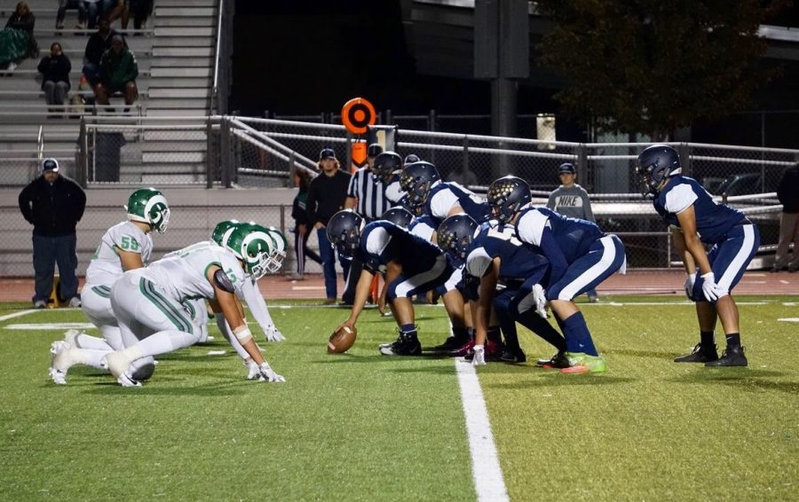 West+football+plays+the+first+scrimmage+against+St.+Marys.+Photo+by+Jonah+Guerrero.