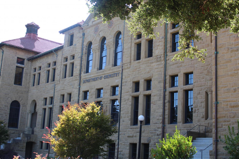 A chemistry building in Stanford University. Picture taken by Sneha Thokkadam.