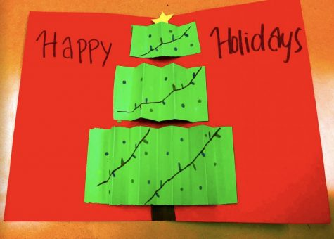 A cheery holiday pop-up card, perfect for gifting to a friend! Photo by Adriana Apodaca.