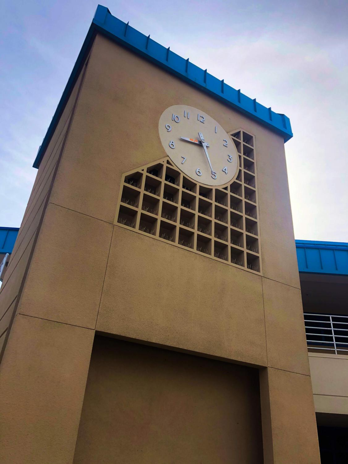 West High's Clock Tower. Photo by Robby Trammell.